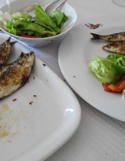 peixe com salada restaurante seixal